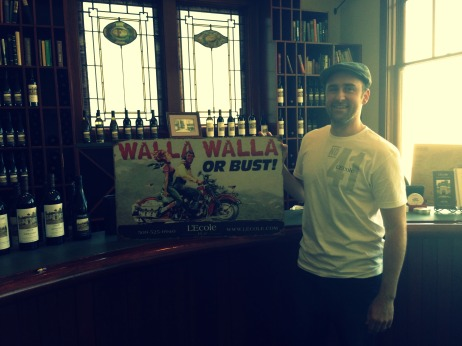 "Ben, with the always-popular ""Walla Walla or Bust"" signs"